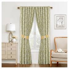 Waverly Curtains And Drapes Waverly Curtain Panel Pair Green Yellow Ivory Paisley Target