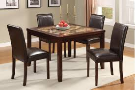 glass dining room table with white leather chairs cheap set