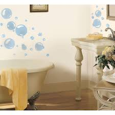 Bathroom Decals For Kids Roommates Rmk1846scs Bubbles Peel And Stick Wall Decals