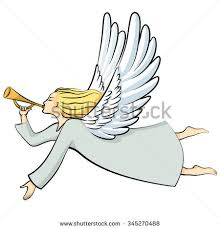christmas angel christmas angel blowing trumpet stock images royalty free images
