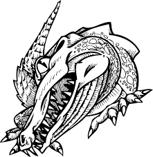 coloring page of alligator with sharp teeth for kids coloring point