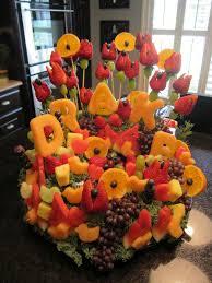edible fruit basket photo baby shower punch image