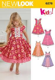new look 6278 child u0027s dress with trim variations children s