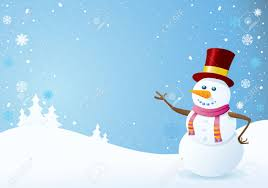 snowman on christmas background christmas backgrounds series