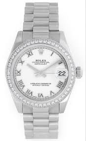 diamond rolex rolex lady 31 ladies 31mm president watch 178286 diamond bezel