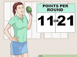 Rules For Table Tennis by 3 Ways To Keep Score In Ping Pong Or Table Tennis Wikihow