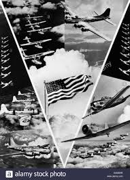 World War 2 Us Flag 1940s World War Ii Victory In The Air Montage In Shape Of Vee With