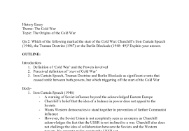 Iron Curtain Speech Essay Plan Which Of The Following Marked The Start Of The Cold War