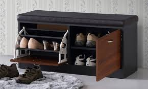 Modern Bench With Storage Clevedon Shoe Storage Bench Groupon Goods