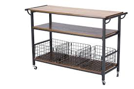 industrial iron wood kitchen trolley natural black buy kitchen amazon com baxton studio lancashire wood and metal kitchen cart
