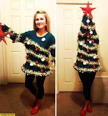 christmas tree costume woman creative christmas tree costume starecat