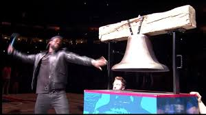 rings bell images Kevin hart rings in the bell before the 76ers game jpg