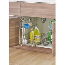 the kitchen sink cabinet organization bathroom and kitchen sink organizer wayfair