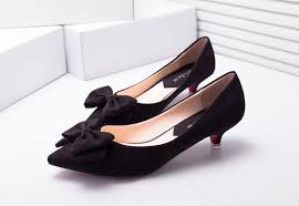ribbon heels womens stylish ribbon kitten heels shoesity