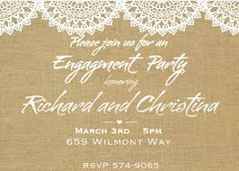 Engagement Invitation Cards Free Creative Engagement Party Invitations Design With Brown Background