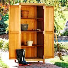 tall storage cabinet brookbend cedar patio furniture