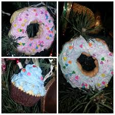 diy cupcake donut ornaments