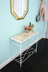 Blue Entryway Table by Project Restyle Gold Marbled Entryway Table U2013 A Beautiful Mess