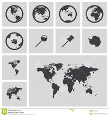 Free World Maps by Vector Black World Map Icons Set Royalty Free Stock Images Image
