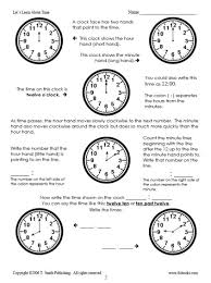 time worksheets telling time worksheets o u0027clock and half past