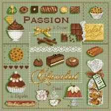 point de croix cuisine fiche couleur pour ouvrage point de croix chocolat