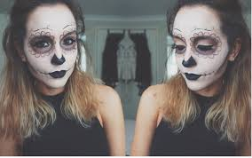 sugar skull day of the dead dia de los muertos makeup tutorial
