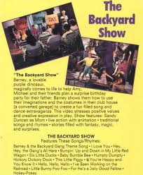 Category Barney And The Backyard by Barney The Backyard Gang The Backyard Show Vhs Books Vhs Barney
