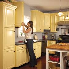 Yellow Kitchen Cabinets - how to spray paint kitchen cabinets spray paint kitchen cabinets