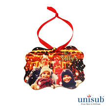 unisub wood ornaments for sublimation imprinting