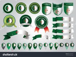 Algerian Flag Made Algeria Seal Algerian Flag Vector Stock Vector 366905474