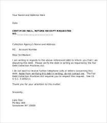 debt collector letter template letter idea 2018