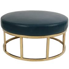 Vintage Storage Ottoman Ottoman Simple Large Round Storage Ottoman Leather Ottomans And