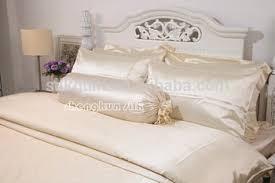 White Silk Bedding Sets 19mm Plain Ivory White 100 Silk Bedding Sets With Oeko Tex