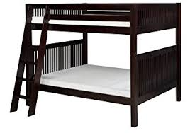 amazon com camaflexi mission style solid wood bunk bed full over