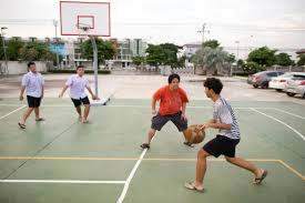 playing basketball in thailand