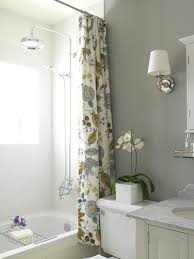 White And Yellow Shower Curtain Yellow Shower Curtain Cottage Bathroom Benjamin Moore Gray
