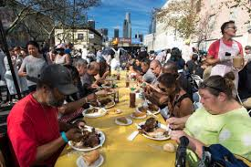 thousands enjoy thanksgiving dinner at fred mission skid