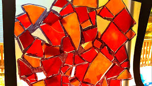 fall color stained glass suncatcher crafts for kids