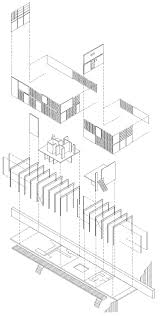 schroder house floor plan eames house exploded axonometric of eames house