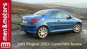 2001 peugeot 206cc convertible review youtube