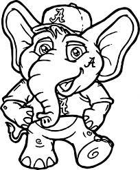 elmer elephant coloring free cute perfect crimson tide