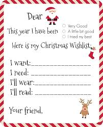 wish list dear santa printable wishlist yellow bliss road