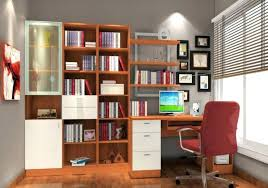Leaning Bookshelf With Desk Leaning Shelf Bookcase With Computer Desk Office Furniture Home