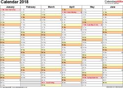printable annual planner calendar 2018 uk 16 free printable pdf templates
