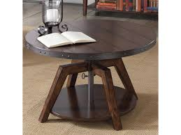 liberty furniture aspen skies industrial casual adjustable round
