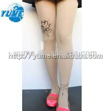 brand new sheer heart tattoo print pantyhose stockings tattoo