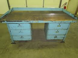 Antique Woodworking Benches Sale by Industrial Work Bench Ebay