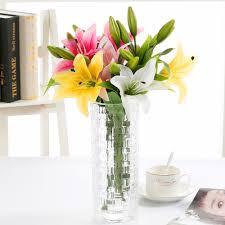 aliexpress com buy new fashion floace 1pcs 1 flower 2 head bud