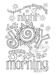 joy comes in the morning coloring page in two sizes 8 5x11