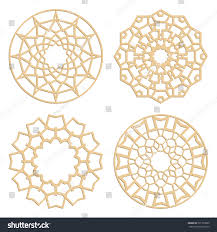 diy laser cutting patterns islamic die stock vector 391703890